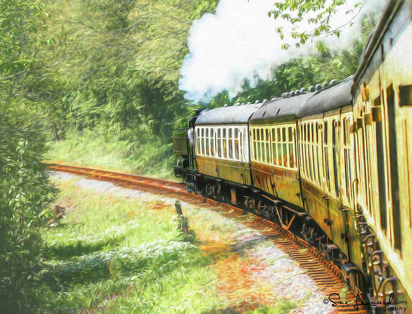 Photograph - Painted Effect - Full Steam Ahead by Susan Leonard