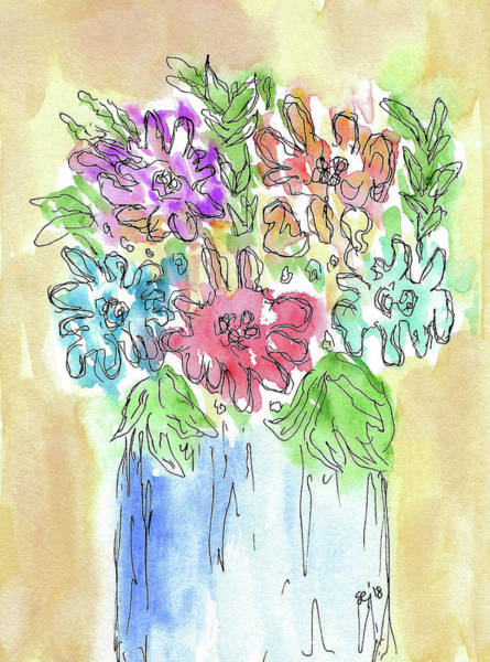 Painting - Fun Flowers by Susan Campbell