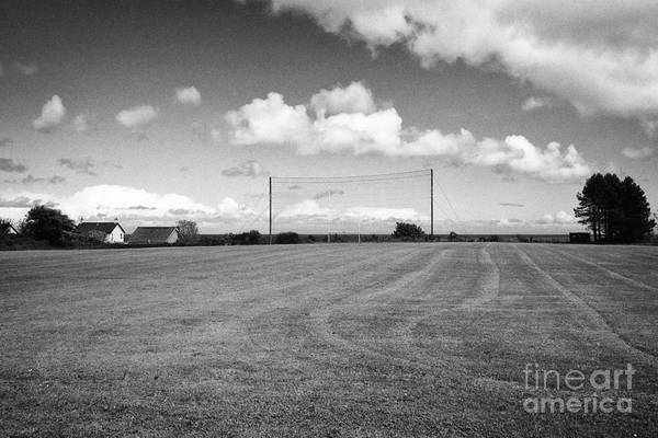 Gaelic Photograph - gaelic games football pitch Cushendall County Antrim Northern Ireland UK by Joe Fox