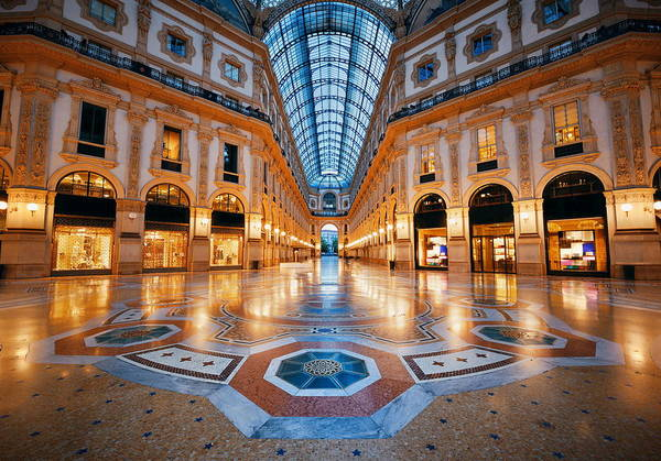 Photograph - Galleria Vittorio Emanuele II Interior by Songquan Deng