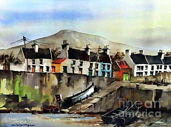 Painting - F 757 Roundstone Harbour by Val Byrne