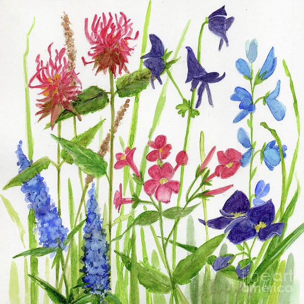 Painting - Garden Flowers by Laurie Rohner