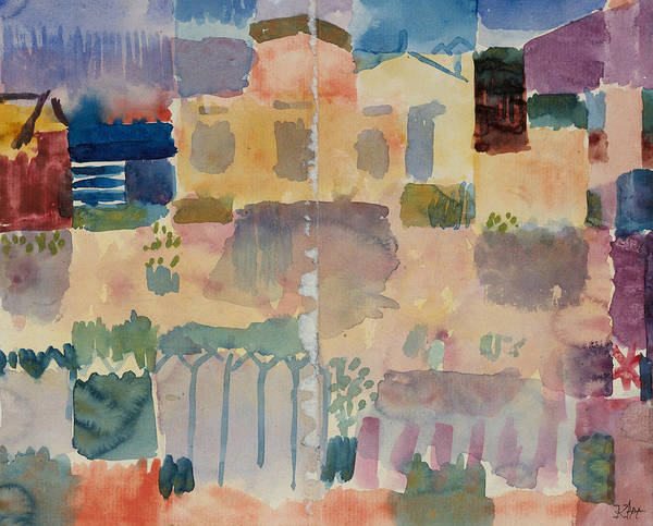 Drawing - Garden In St. Germain, The European Quarter Near Tunis by Paul Klee