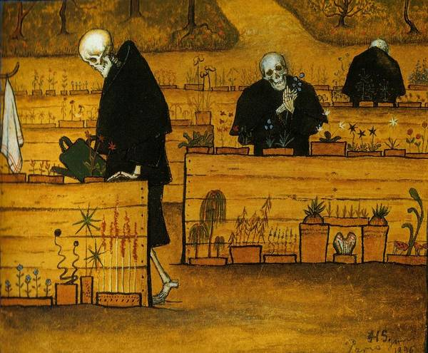 Wall Art - Painting - Garden Of Death by Hugo Simberg