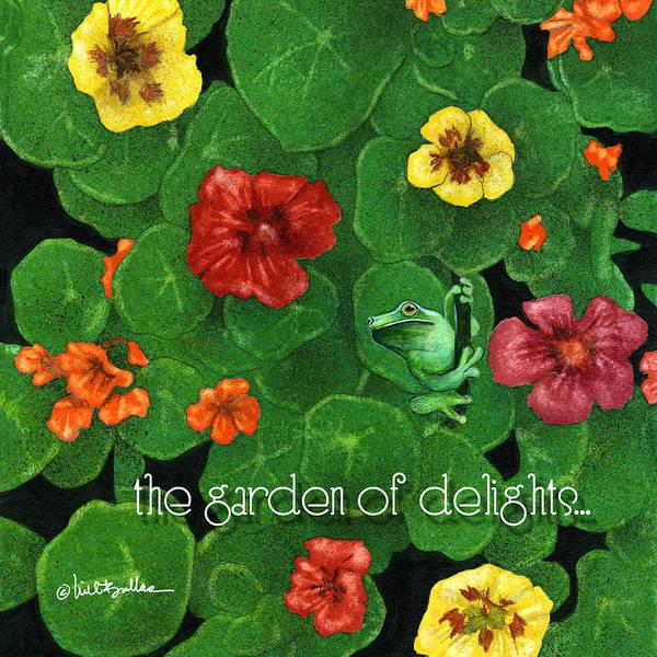 Nasturtiums Wall Art - Painting - Garden Of Delights... by Will Bullas