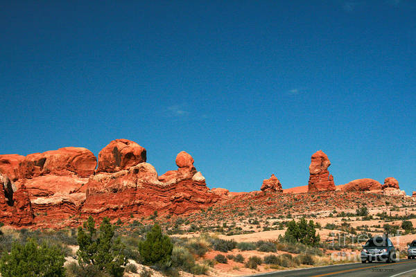 Wall Art - Painting - Garden Of Eden Rock Formations, Arches National Park, Moab Utah  by Corey Ford
