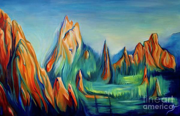 Wall Art - Painting - Garden Of The Gods by Jen Callison