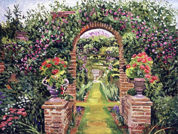 Gateway Painting - Gateway Of Brick by David Lloyd Glover