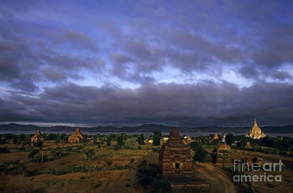 Wall Art - Photograph - Gawdawpalin Temple And Historic Pagodas At Sunrise Along The Irrawady River by Sami Sarkis