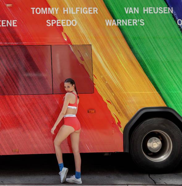 Lgbt Photograph - Gay Pride Parade Nyc 6_24_2018 Fashion Model by Robert Ullmann