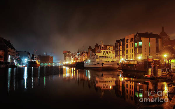 Photograph - Gdansk At Night by Mariusz Talarek
