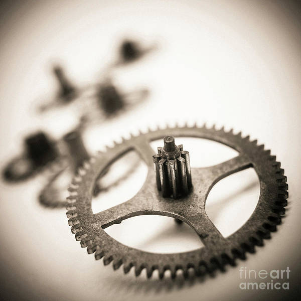 Wall Art - Photograph - Gear Wheels. by Bernard Jaubert