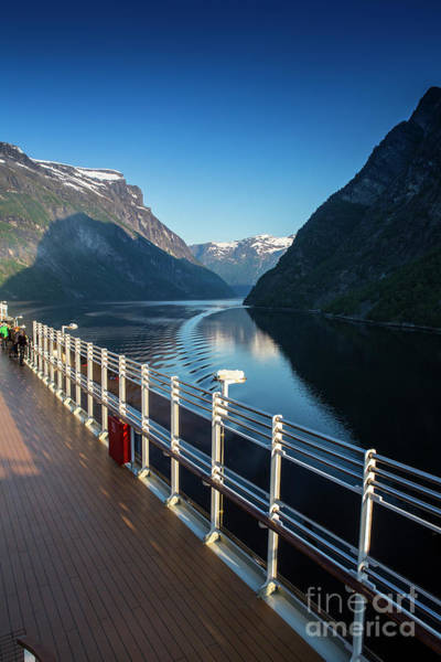 Wall Art - Photograph - Geiranger Fjord With Queen Victoria In Foreground by Sheila Smart Fine Art Photography