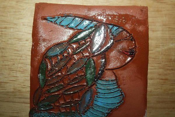 Ceramic Art - Gena - Tile by Gloria Ssali