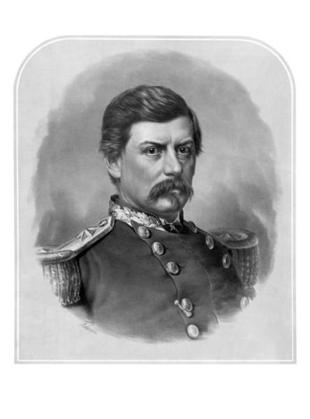 The War Between The States Wall Art - Mixed Media - General George Mcclellan by War Is Hell Store