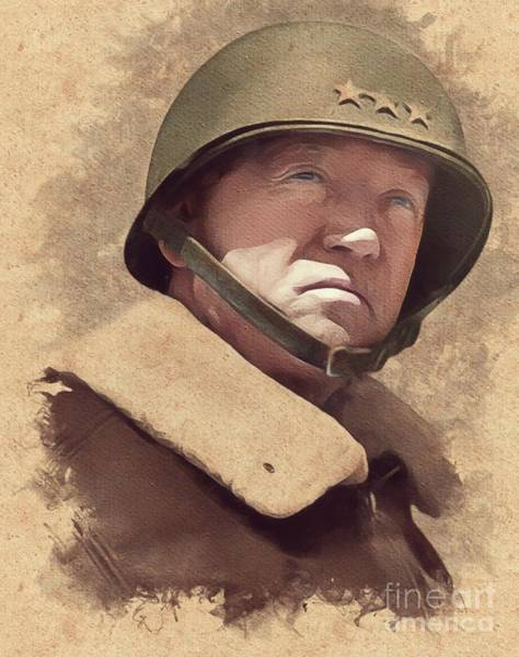 Communist Painting - General George S. Patton by Mary Bassett