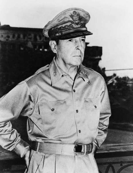 Ww2 Photograph - General Macarthur by War Is Hell Store
