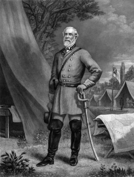 Wall Art - Drawing - General Robert E. Lee by War Is Hell Store