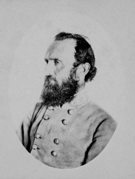 Civil War Photograph - General Thomas Stonewall Jackson Photo by War Is Hell Store