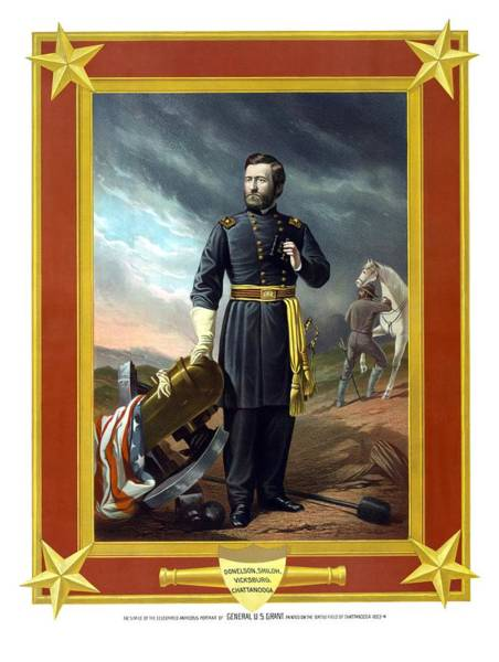 Civil War Wall Art - Painting - General Us Grant by War Is Hell Store