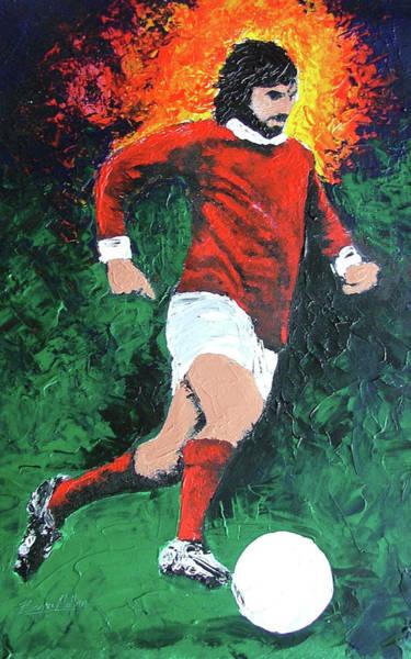 George Best Wall Art - Painting - George Best  by Barry Mullan