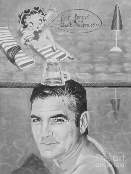 Wall Art - Painting - George Clooney by Jeepee Aero