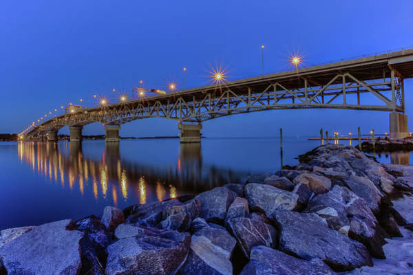 Photograph - George P. Coleman Bridge by Jerry Gammon