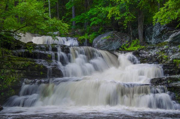 Pocono Mountains Wall Art - Photograph - George W Childs Park Waterfall by Bill Cannon