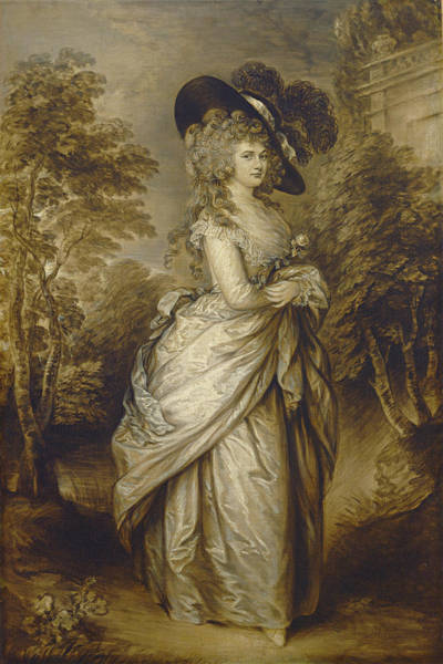 Painting - Georgiana, Duchess Of Devonshire by Gainsborough Dupont