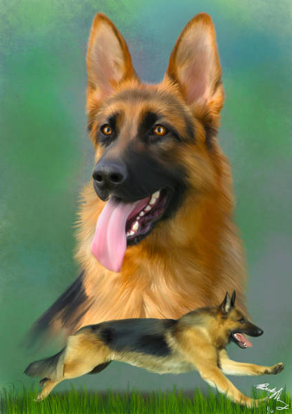 Painting - German Shepherd Breed Art by Becky Herrera