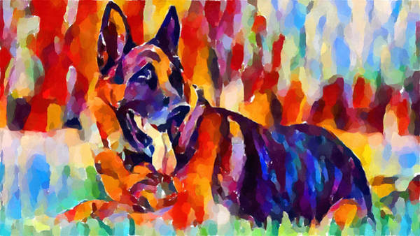 Wall Art - Painting - German Shepherd by Chris Butler