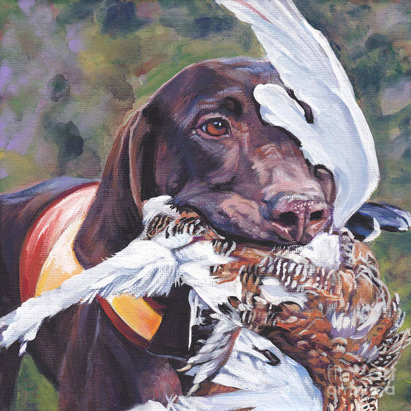 German Pointer Painting - German Shorthaired Pointer by Lee Ann Shepard