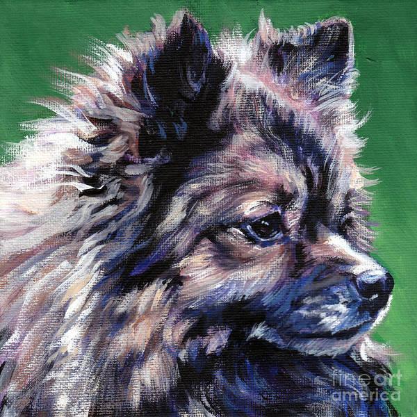 Pomeranian Painting - German Spitz by Lee Ann Shepard