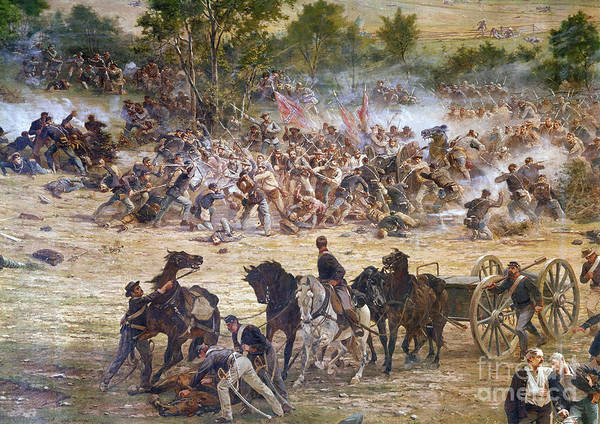 1863 Photograph - Gettysburg, 1863 by Granger