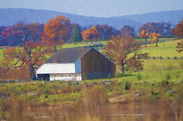 Gettysburg Battlefield Photograph - Gettysburg Barn by Bill Cannon