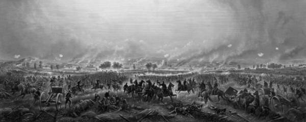 The War Of Northern Aggression Drawing - Gettysburg  by War Is Hell Store
