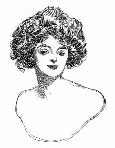 Attractive Drawing -  Gibson Girl by Charles Dana Gibson