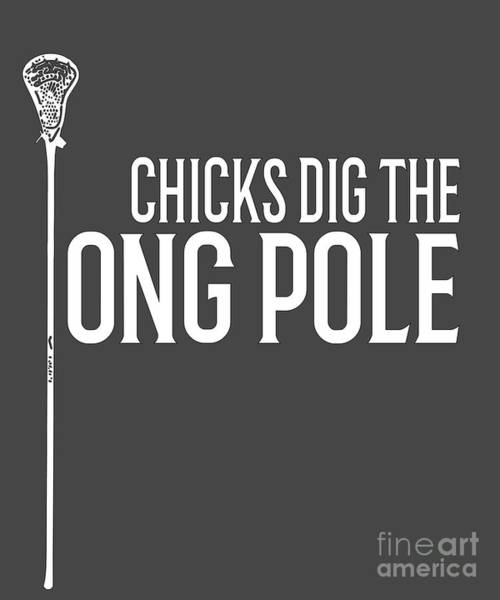 Lax Digital Art - Gift For Lacrosse Defense Or Long Stick Middie by Mike G