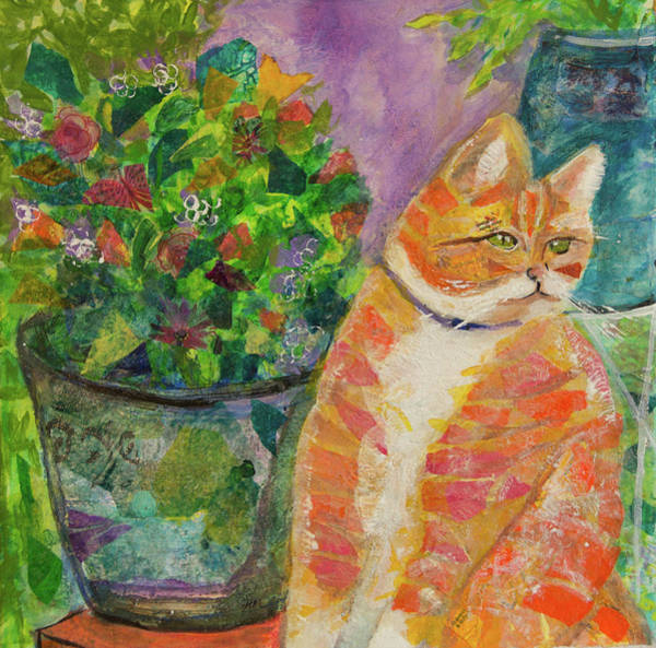Ginger With Flowers Art Print