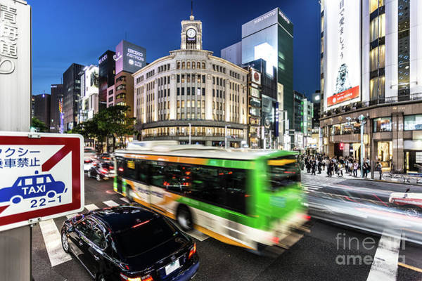 Photograph - Ginza Rush In Tokyo by Didier Marti