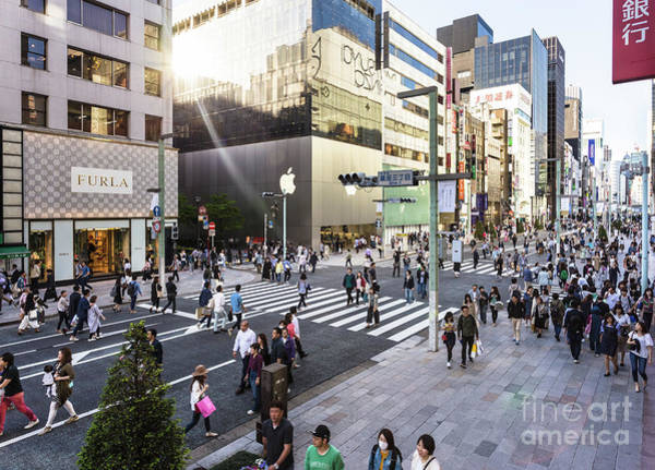 Photograph - Ginza Street In Tokyo by Didier Marti