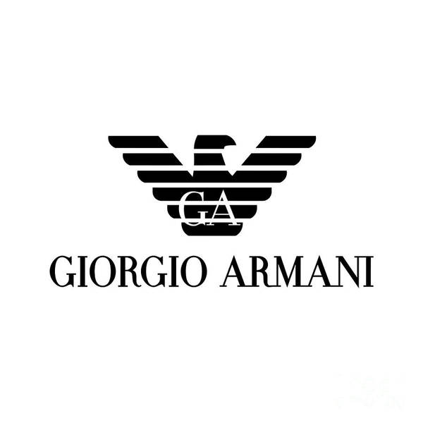 Dior Digital Art - Giorgio Armani Logo by Edit Voros