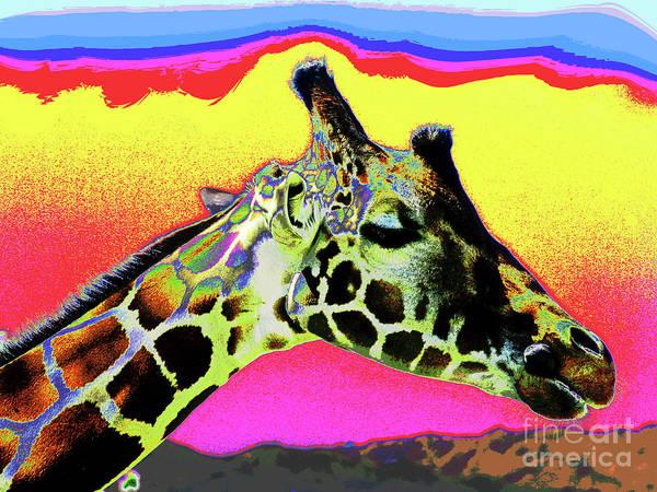Photograph - Giraffe Fun by Larry Oskin