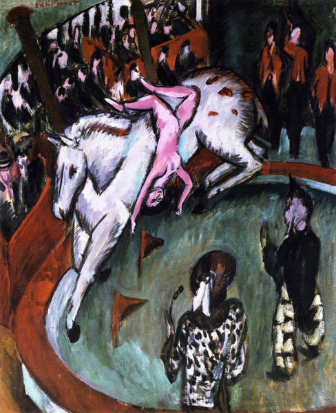 Trapeze Painting - Girl Circus Rider by Ernst Ludwig Kirchner