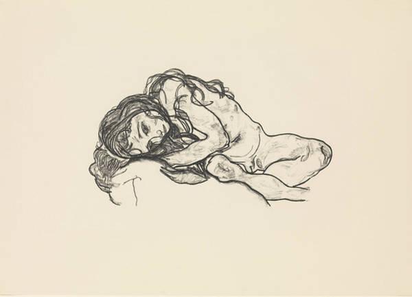 Relief - Girl by Egon Schiele