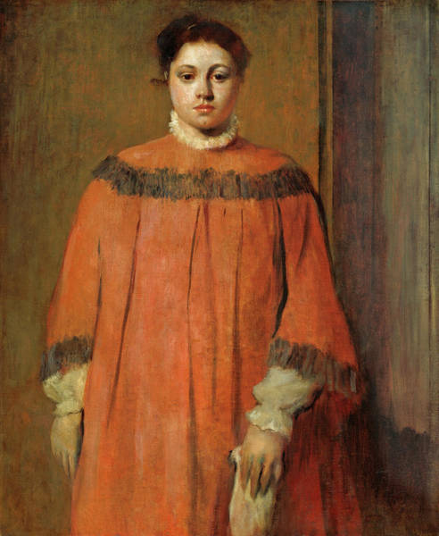 Painting - Girl In Red by Edgar Degas