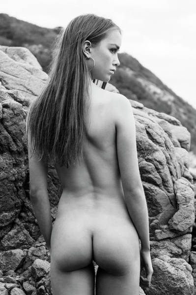 Photograph - Girl On The Rocks by Michael Maximillian Hermansen