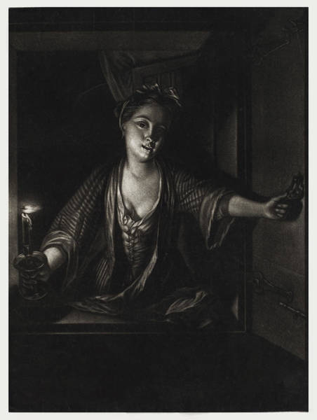 Painting - Girl With A Candle by John Greenwood after Nicolaas Verkolje