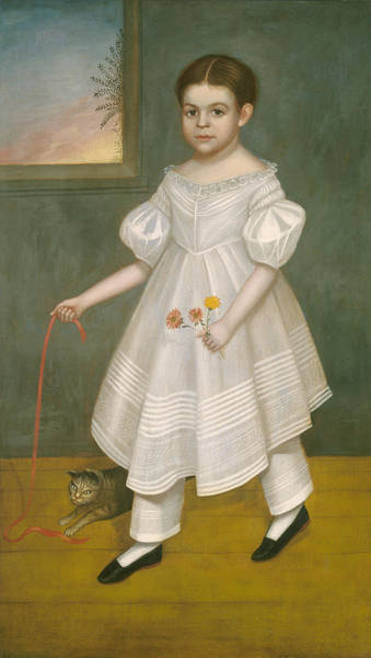 Painting - Girl With Kitten by Joseph Goodhue Chandler
