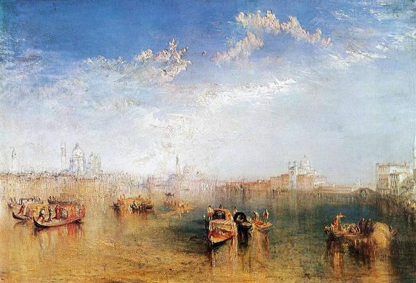 J. M. W. Turner Painting - Giudecca, La Donna Della Salute And San Georgio by JMW Turner